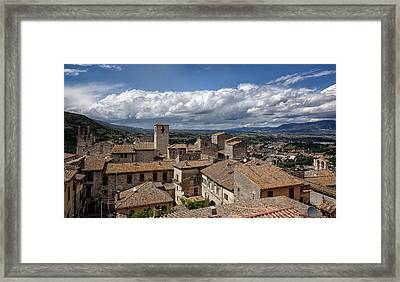 Framed Print featuring the photograph Narni Roof Tops by Uri Baruch