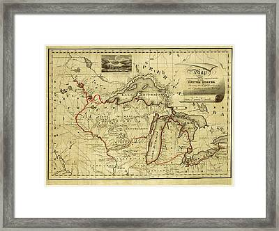 Narrative Journal Of Travels, Through The North Western Framed Print by Litz Collection