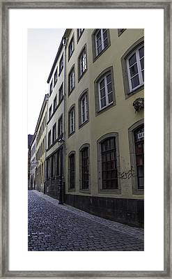 Narrow Alley In Cologne Framed Print by Teresa Mucha