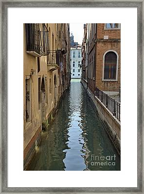 Narrow Canal In Venice Framed Print