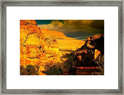 Narrow Chasms Framed Print by Jeff Swan