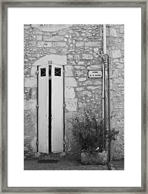 Narrow Door Framed Print