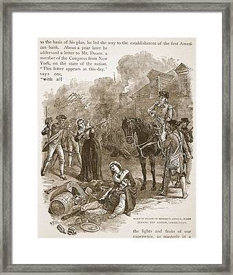 Narrow Escape Of Benedict Arnold, When Framed Print by Alfred R. Waud