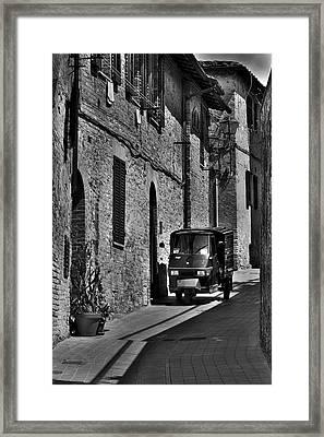 Narrow Italian Street Framed Print by Ivan Slosar
