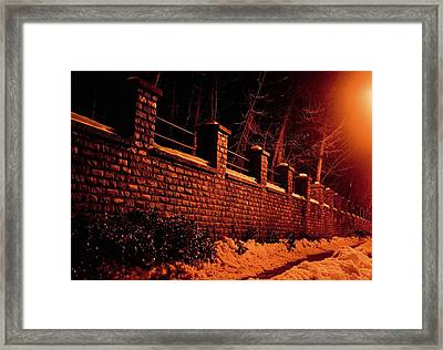 Narrow Path Framed Print by Richie Stewart