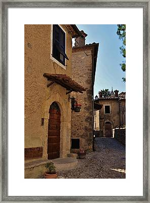 Narrow Street In Italian Village Framed Print
