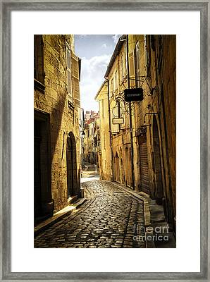 Narrow Street In Perigueux Framed Print by Elena Elisseeva