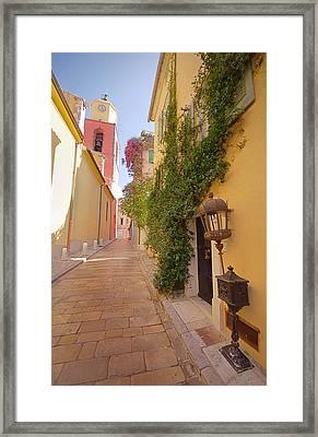 Narrow Street Framed Print by Ioan Panaite