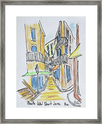 Narrow Streets Along Placette Abbe Framed Print