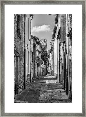 Narrow Streets Of Eymet Framed Print