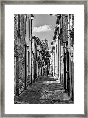 Narrow Streets Of Eymet Framed Print by Georgia Fowler