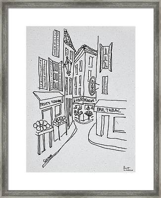 Narrow Streets Of Old Nice, Nice, France Framed Print
