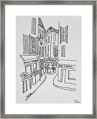 Narrow Streets Of Old Nice, Nice, France Framed Print