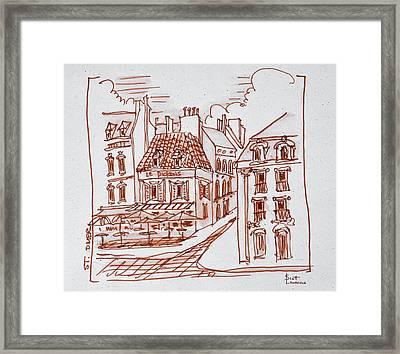 Narrow Streets Of Saint-omer, France Framed Print