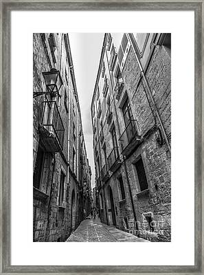 Narrow Streets Of Spain Framed Print
