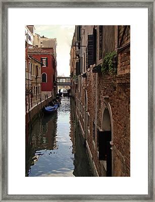 Venice Narrow Waterway Framed Print