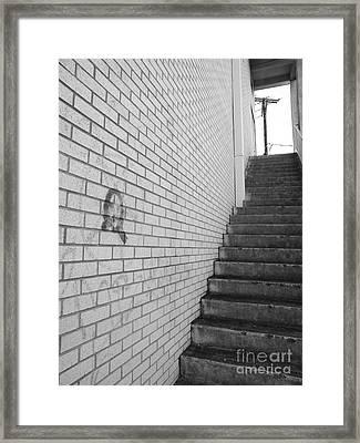 Narrow Way Framed Print