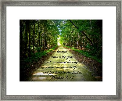 Narrow Way Framed Print by Sheri McLeroy
