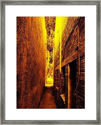 Narrow Way To The Light Framed Print by Glenn McCarthy Art and Photography