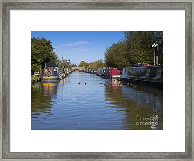 Narrowboats Framed Print by Louise Heusinkveld