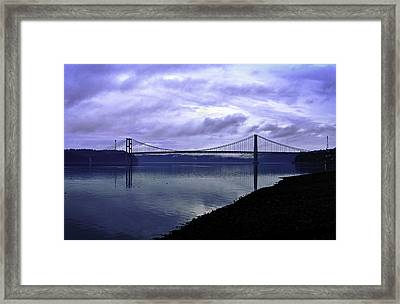 Framed Print featuring the photograph Narrows Bridge by Anthony Baatz