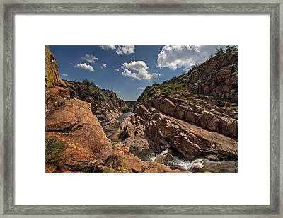 Narrows Canyon In The Wichita Mountains Framed Print
