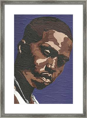 Framed Print featuring the painting Nas by Rachel Natalie Rawlins
