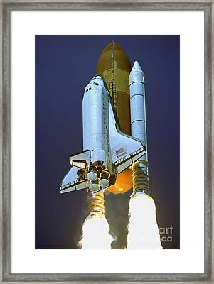 Nasa Atlantis Launch 2 Framed Print