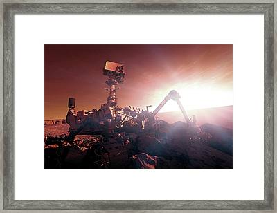 Nasa Curiosity Mars Rover Framed Print