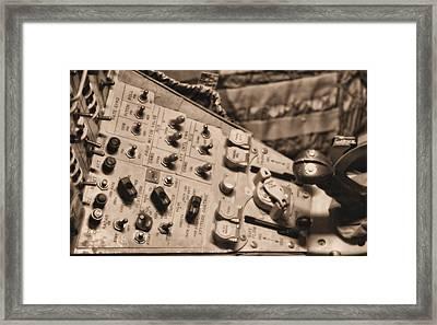 Nasa Flight Control Framed Print by Dan Sproul