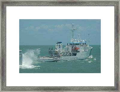Nasa Ship Liberty Star Framed Print by Bradford Martin
