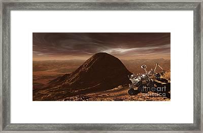 Nasas Curiosity Rover Climbing Framed Print