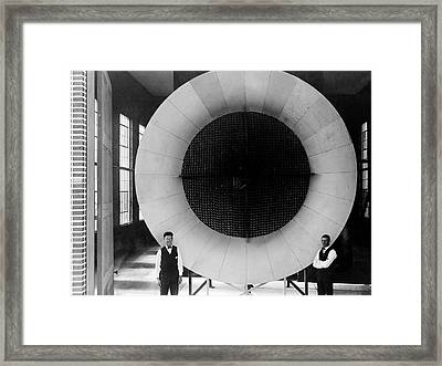 Nasa's First Wind Tunnel Framed Print by Naca