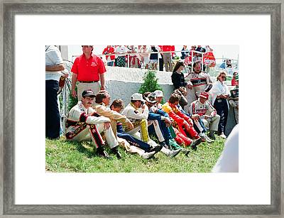 Nascar Greats- Earnhardt Allison Petty Martin Framed Print by Retro Images Archive