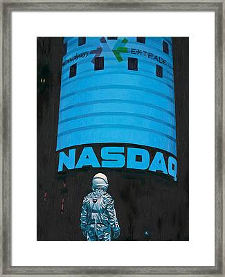 Framed Print featuring the painting Nasdaq by Scott Listfield