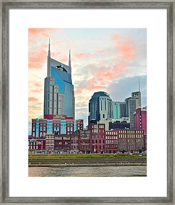 Nashville At Dusk Framed Print