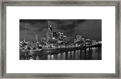 Nashville At Night Framed Print