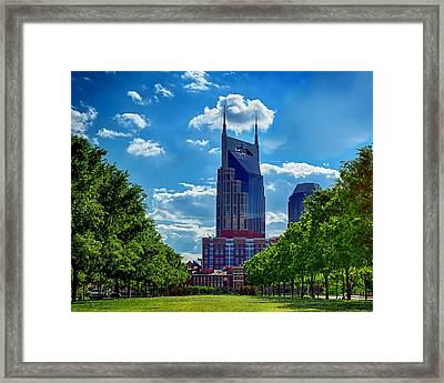 Nashville Batman Building Landscape Framed Print by Dan Holland