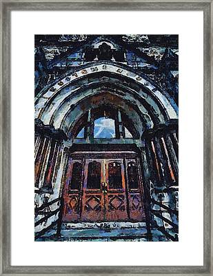 Nashville Custom House Entrance Framed Print by Dan Sproul