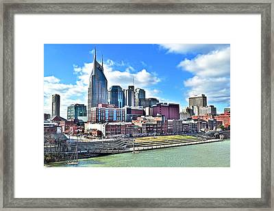 Nashville From Above Framed Print by Frozen in Time Fine Art Photography