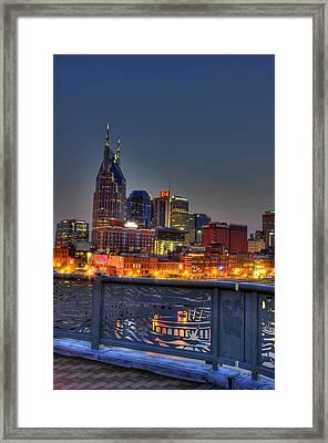 Nashville Glow Framed Print by Zachary Cox