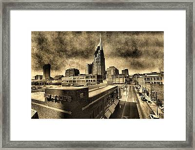 Nashville Grunge Framed Print by Dan Sproul