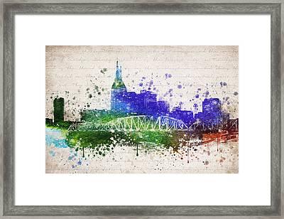 Nashville In Color Framed Print by Aged Pixel