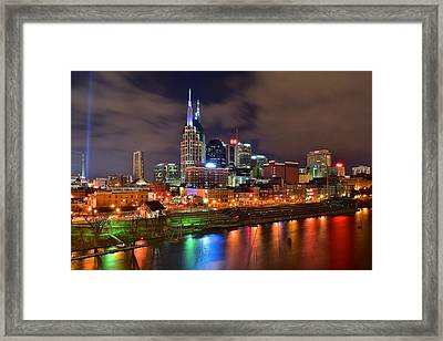 Nashville Is A Colorful Town Framed Print