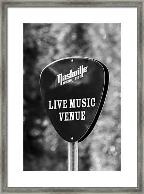 Nashville Music City Sign Framed Print by Debbie Green