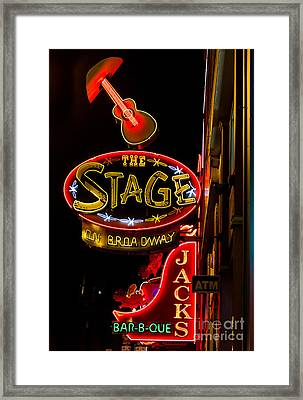 Framed Print featuring the photograph Nashville Night Life by Sophie Doell