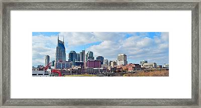 Nashville Panoramic View Framed Print by Frozen in Time Fine Art Photography