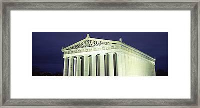 Nashville Parthenon At Night Framed Print