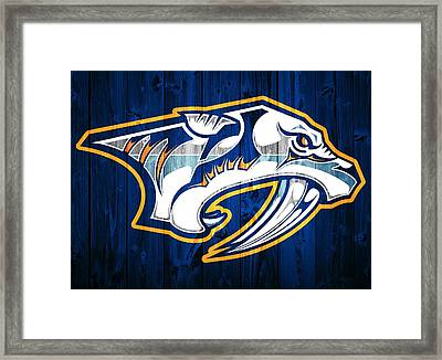 Nashville Predators Barn Door Framed Print by Dan Sproul