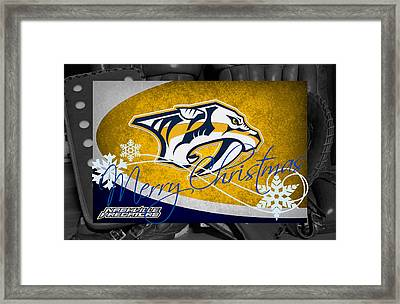 Nashville Predators Christmas Framed Print by Joe Hamilton